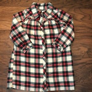Gap holiday flannel dress